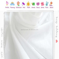 cheap white plain poplin percale shirting polyester cotton fabric