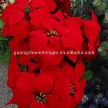 artificial poinsettia plant red flowers plants
