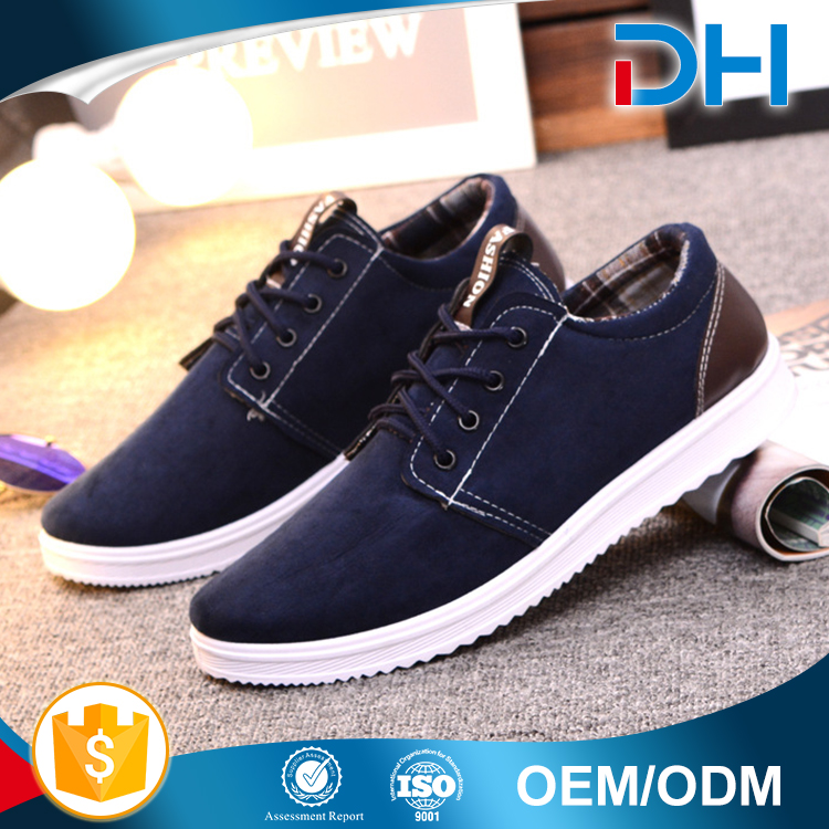 Cheap wholesale price summer breathable PU casual mens shoes