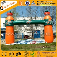 Outdoor inflatable event bottle arch for sales F5035