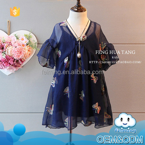 Guangzhou factory baby clothes suit 2016 toddler summer fancy outfit clothes girls embroidery design baby clothes made in china