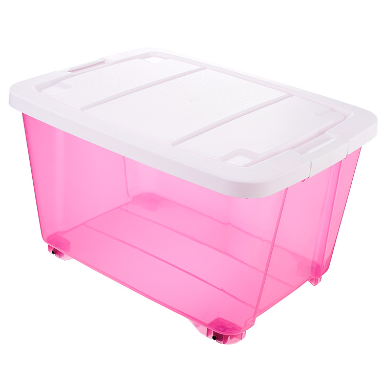 bedroom pp plastic storage lanudry boxes with wheels