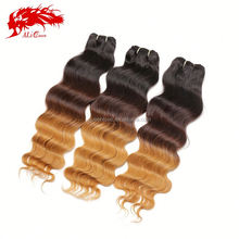 grade 100% raw unprocessed malaysian 6a three tone human virgin remy hair extension