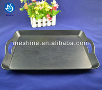 inflight black plastic airline tray