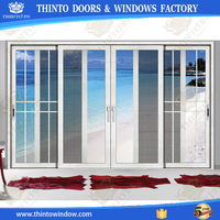 Double Glazing Aluminum Customize Sliding Glass Door closet doors