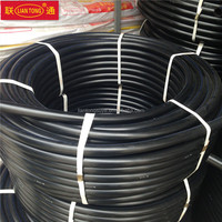 Liantong HDPE water supply pipes manufacturing, polyethylene pipes, PE100 black plastic pipes 100 meter per roll