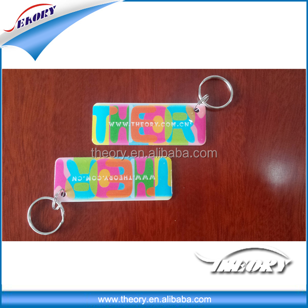 Contactless rfid hotel door plastic white plastic key tags