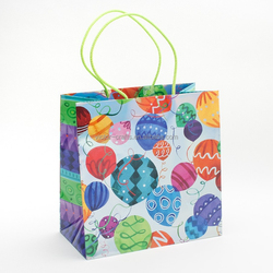 Fun Patterned Balloons Large Gift Bag plastic coated kraft paper bag