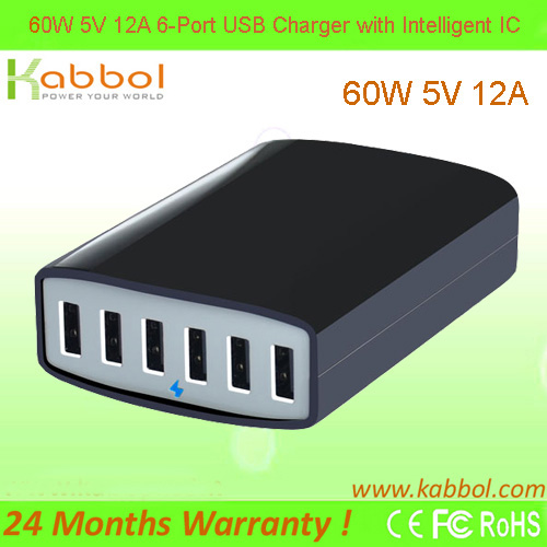 6 Ports USB Fast Desktop Charging Station Wall Charger for Apple iPhone 6/6S/ Plus iPad Air 2 mini 3 Galaxy S6 Edge Note 5 4