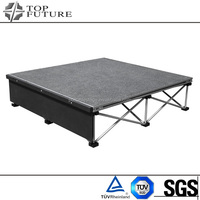 Customized practical folding aluminum portable stage stairs
