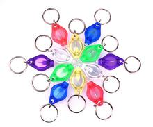 Factory wholesale small gift led lighting colorful cell key ring lighting