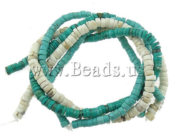 Free shipping!!!Turquoise Beads,Christmas Gift, Natural Turquoise, Rond, mixed, mixed colors, 5-6x15-3mm, Hole:Approx 1mm