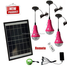 Customized OEM with mobile phone charger with 12w solar led lights kit