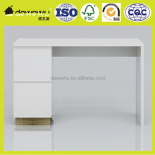 Modern style desk with 2 Drawers Computer Workstation Table White Modern new melamine veneer