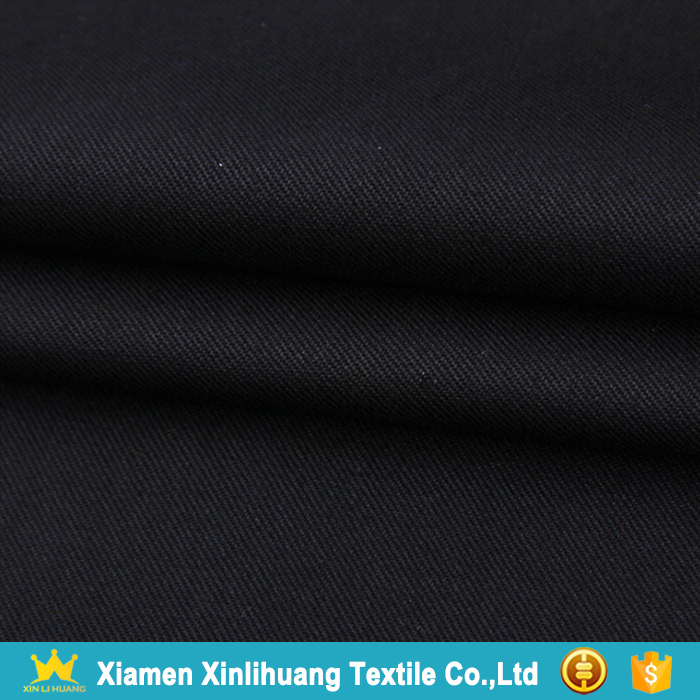 High Quality Woven Dyed 20x16 128x60 100% Cotton Twill Fabric for Garment Pants