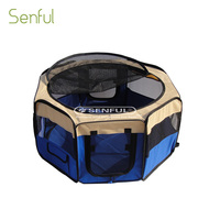 Adjustable pet fence foldable dog playpen