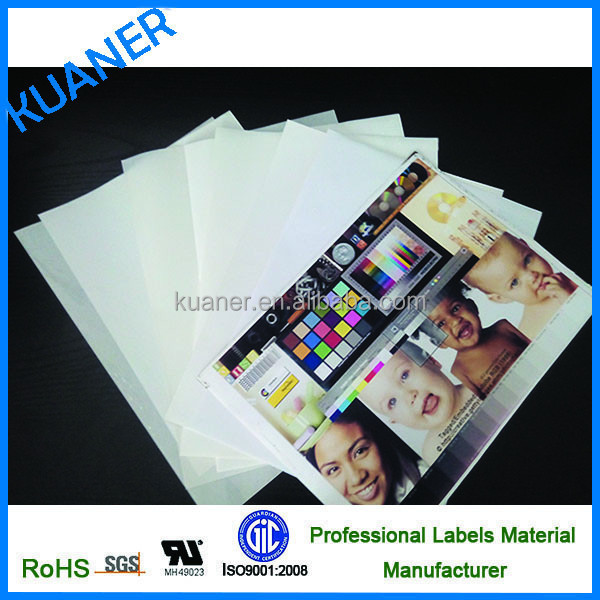 PP syntheitc paper sticker paper for EPSON Inkjet printer machine