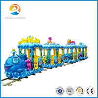 Shopping mall funny family ride, electric track kids train ride for sale