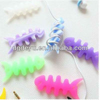 NEW Soft Fish Bone Earphone Cord Cable Winders Adjust the cable length Wrap for headphone Mp3
