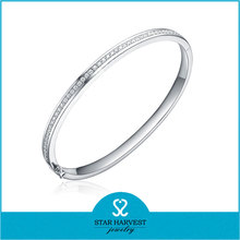 AAA cubic zircon 925 sterling silver bangle