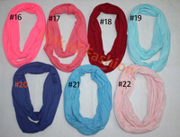 STOCKS 29 colors Womens Soft Infinity Loop Scarf Sheer Neck Wrap Lightweight Shawl Jersey Cowl infinito,bufanda