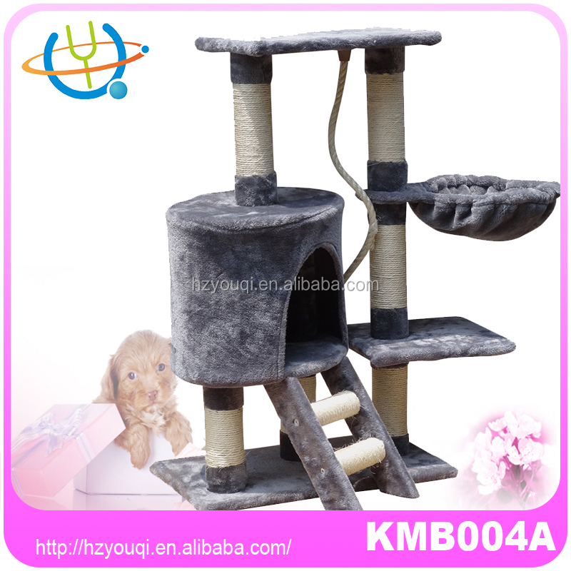 Pet Cat Tree Condo Furniture Luxury High Mansion Cat Tree with Sleeping Bag