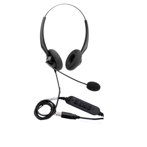 Best selling usb call center equipment headsets with Microphone