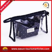Low price air eco beauty pu cosmetic bag travel