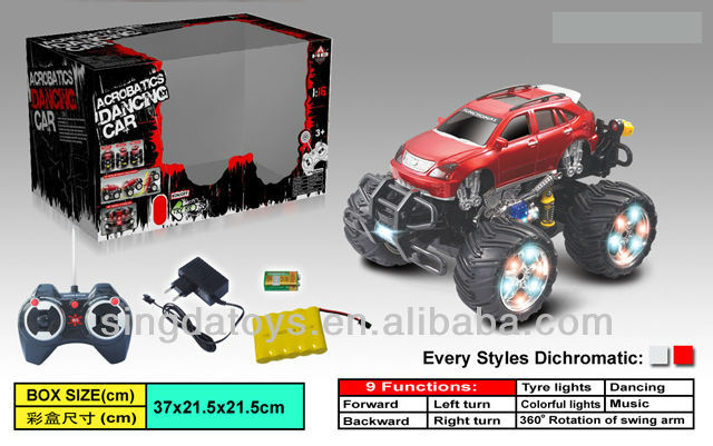 7 CH acrobatic dance music remote control dancing car