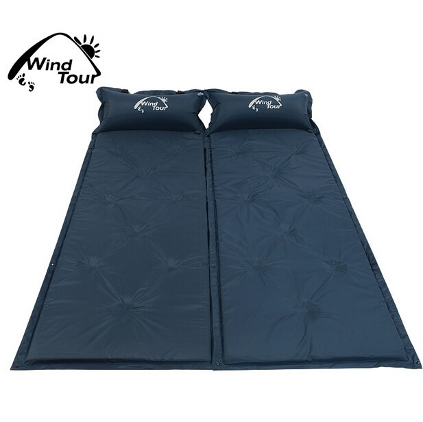 Joinable Self Inflatable Sleeping Mat Foam-Filled Camping Air Pad
