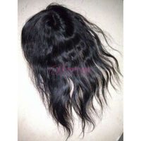"homeage 5"" x 5"" top closure 1b# silky straight hair"