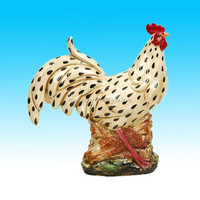hand painted decorative ceramic chickens and roosters