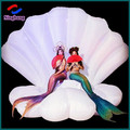 NB-SH2001 inflatable stage seashell inflatable led shell for wedding party