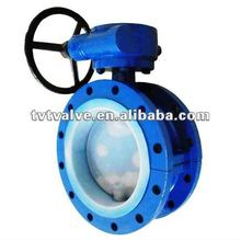High temperature manual butterfly valve