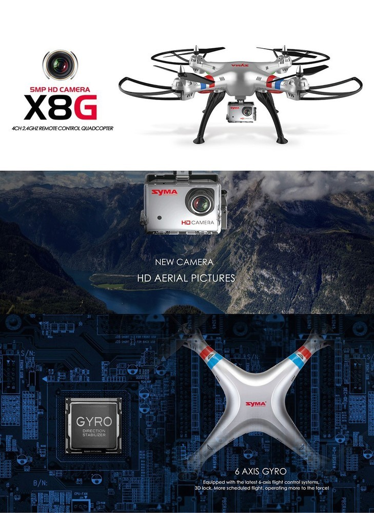 Professional Drone Syma X8G Quadcopter with Camera