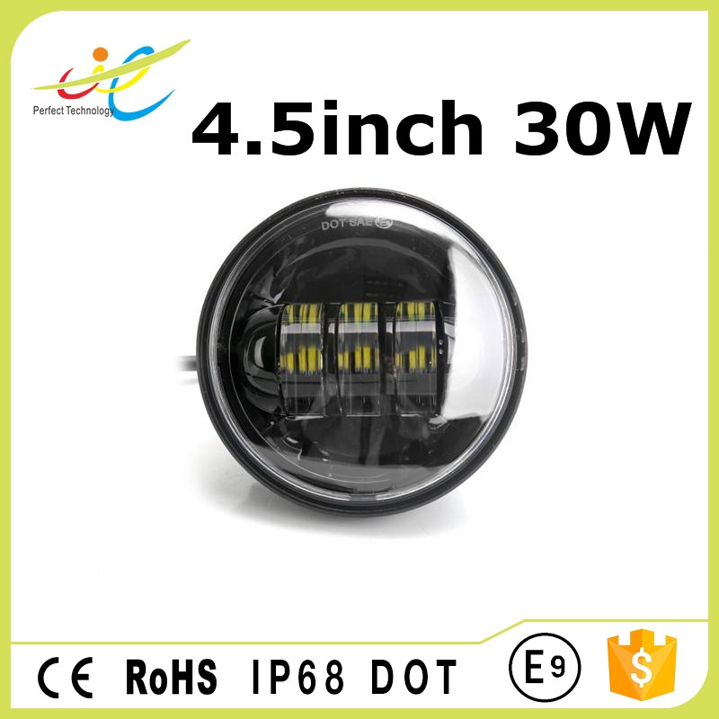 High power car fog light 4.5inch 30W led head lamp with DOT approved