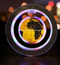 Plastic+ABS Material led lighting levitation world globe with Colorful light
