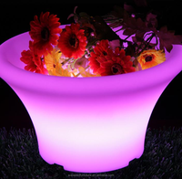 Colorful PE plastic led acrylic food serving tray with led light for night bar use