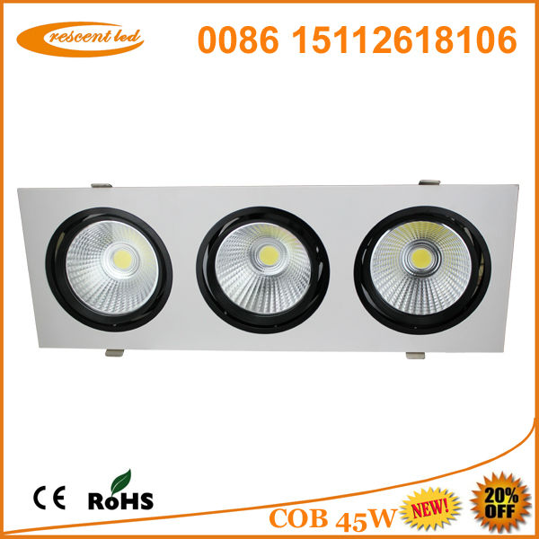 recessed e27 led <strong>downlight</strong> 45w cob ce&rohs square led ceiling <strong>downlight</strong>