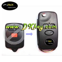 Wholesale price remote key holders 3 buttons modified flip key shell no logo For BYD F3 folding car key