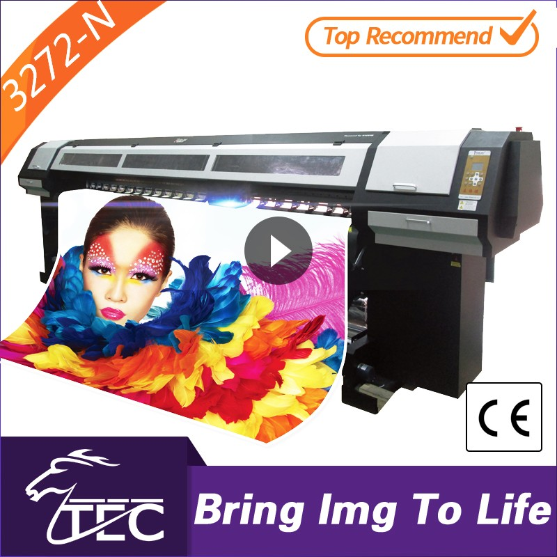 high-speed 3.2m large eco solvent vinyl digital poster printing machine