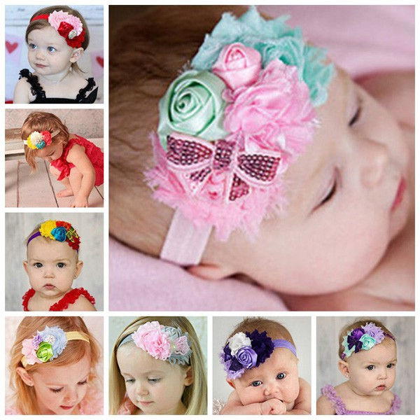 Baby hair accessories baby headband flower crown 2016 headbands for baby girl