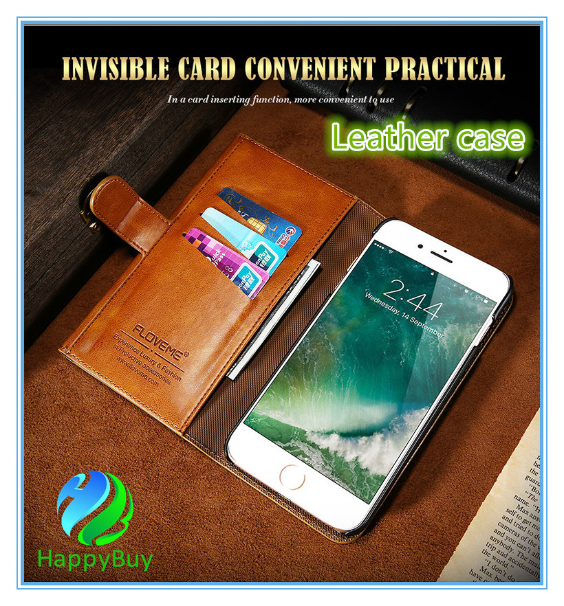 Leather wallet case cell phone for iphone 6/6s/6 Plus/6s Plus7/7 Plus with high quality PU protective flip phone case cover