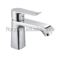 Fashionable basin faucet with single handle