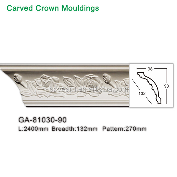 Hot-sale white trim moulding building cornice