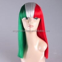 Wholesale long hair wig, colorful, custom cosplay halloween wig girl wigFW4090
