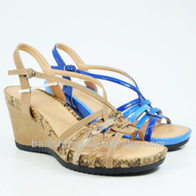 Fashion Middle Level Wedge Platform Rope Binding Women Sandal Shoes New arrived