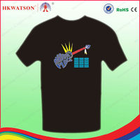 el glowing sound activated t shirt/dance supplies led gifts Printed wholesale