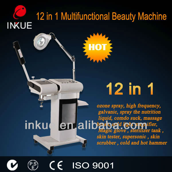 BU-1201 newest 12 in1 multifunction beauty facial machine keep your beauty
