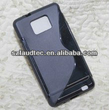 Black S Line For Samsung Galaxy S2 i9100 TPU Gel Case Cover Skin